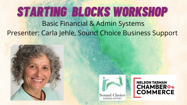 Starting Blocks Workshop - Basic Financial and Admin Systems for Businesses (New Date & Venue)