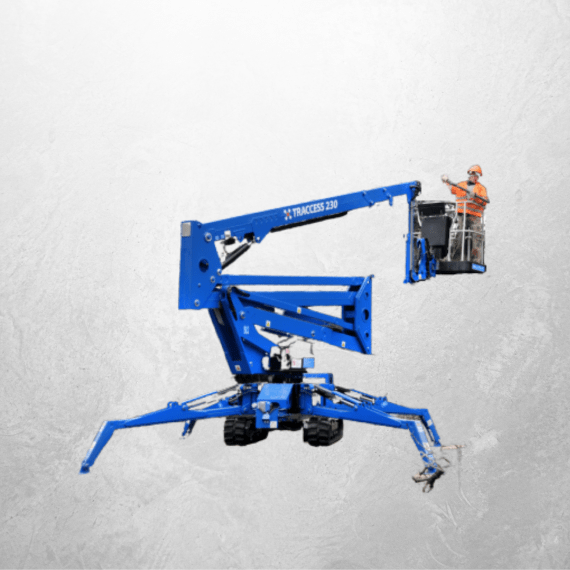 23m Tracked Articulating Spider Boom Lift for hire at Safe Hire