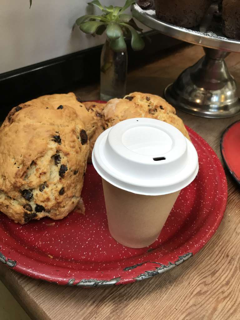 Bio Compostable Paper Cup & Lid - Scones not included