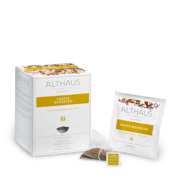 Althaus Toffee Rooibush Herbal Tea - Pyra Pack