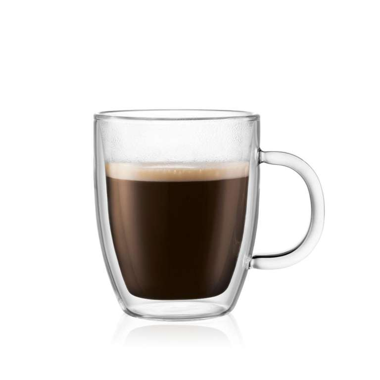 Bodum Bistro Double Wall Thermo-Glass Mugs