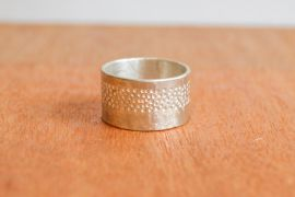 Silver Punched Ring