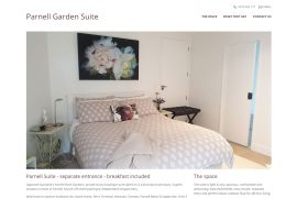 Luxury bed and breakfast Parnell Auckland Garden Suite New Zealand