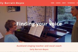 Auckland singing teacher & vocal coach, Sally Barratt-Boyes